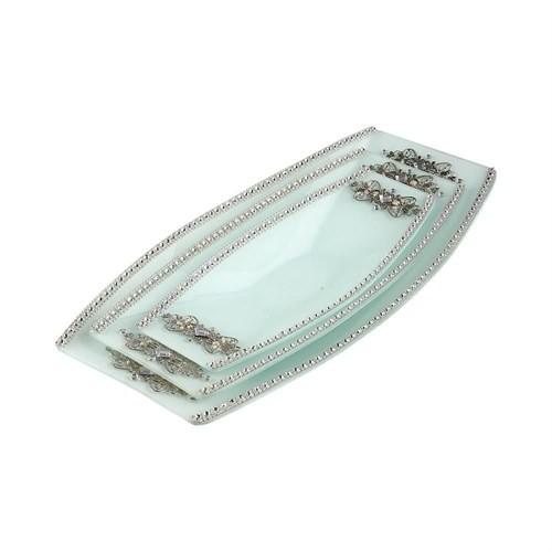 Evino 3'Lü Dekoratif Servis - Gümüş Serisi V2