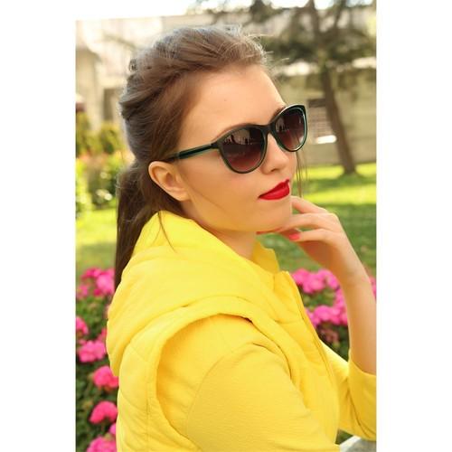 Morvizyon Clariss Marka Siyah & Yeşil Detaylı Bayan Gözlük