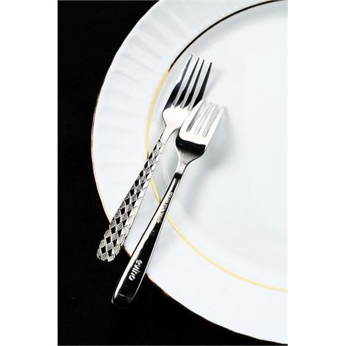 Evino 6'Lı Tatlı Çatalı - Paslanmaz Çelik