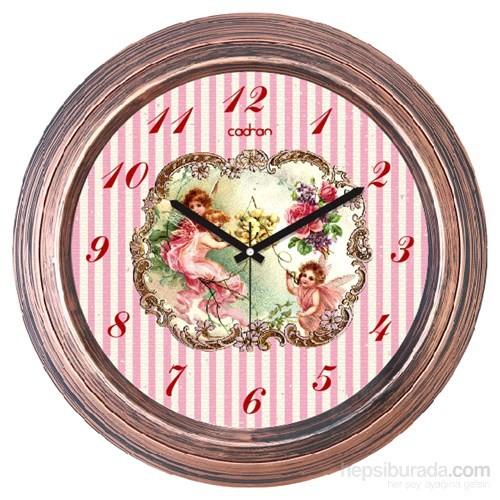 Cadran 1108-22 Dekoratif Vintage Duvar Saati Bakır Angels