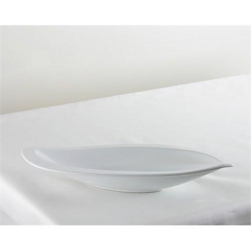 Kancaev Porselen Geniş Kenarlı Yamuk Oval Servis Küçük