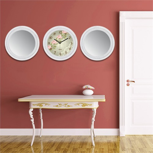 Cadran Home 2'Li Ayna Ve Duvar Saati Set Chas38