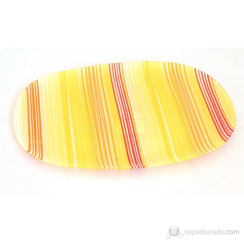 Lumınarc Carina Stripes -Orange Oval Servis Tabağı