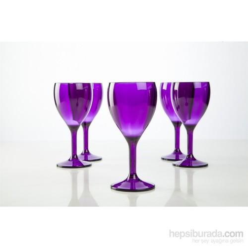 Plabar Kırılmaz Şarap Bardağı (Mor) 6Lı