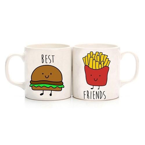 Köstebek Hamburger & Patates Best Friend Kupa