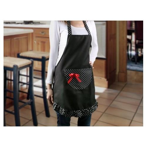 Gift Box Elbise Tasarımlı Mutfak Önlüğü - Mavi