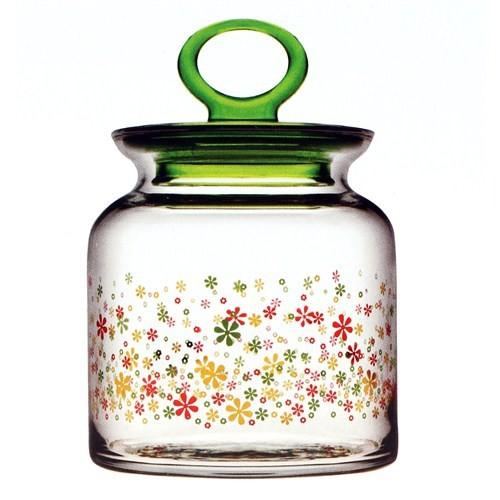 Paşabahçe Çiçek Desen Kıtchen Kavanoz -Küçük