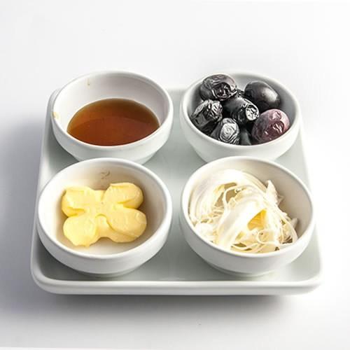 Evon 4'Lü Kahvaltılık - Beyaz