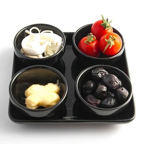 Evon 4'Lü Kahvaltılık - Siyah