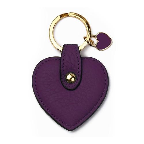 Leather&Paper Mor Deri Kalp Anahtarlık