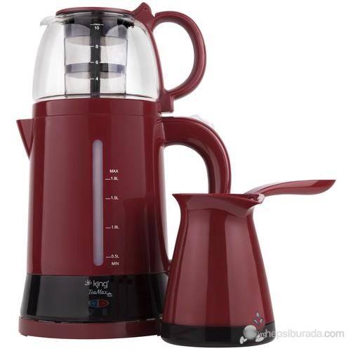 King K-8288 Duo Set Çay & Kahve Makinesi Seti