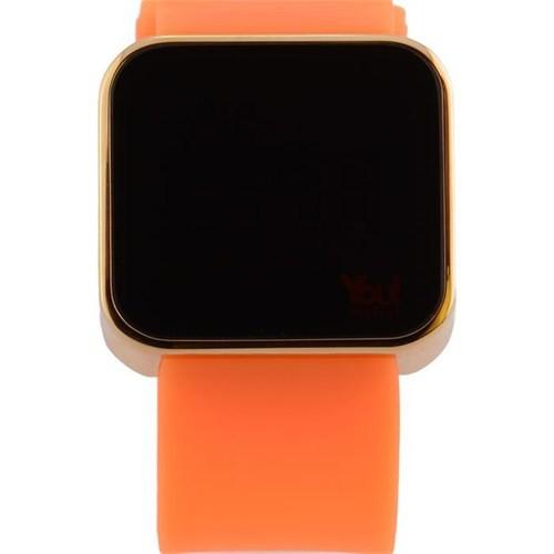 You Watch Shiny Gold Neon Orange Unisex Kol Saati