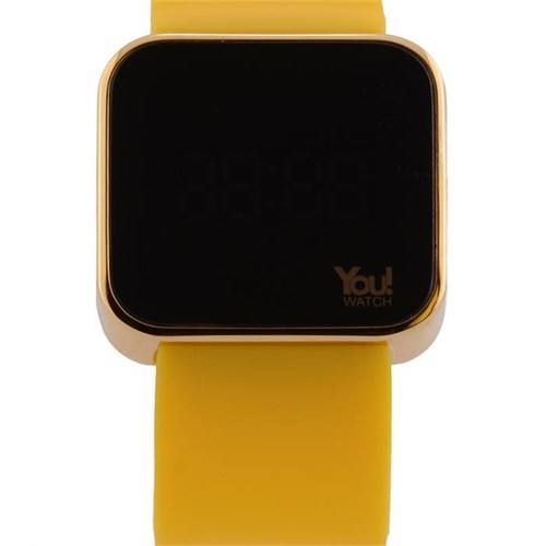 You Watch Shiny Gold Yellow Unisex Kol Saati