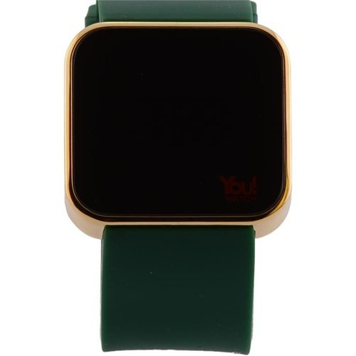 You Watch Shiny Rose Khaki Green Unisex Kol Saati