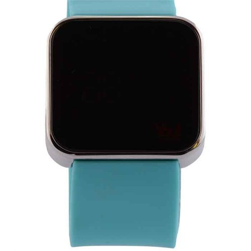 You Watch Shiny Silver Turquoise Unisex Kol Saati