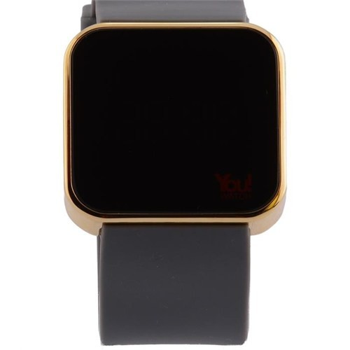 You Watch Matt Gold Gray Unisex Kol Saati