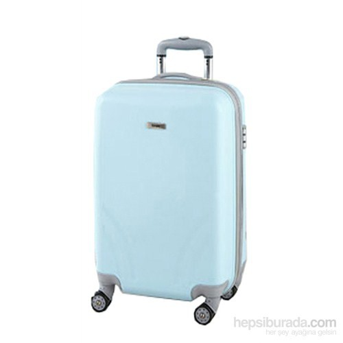 TUTQN Kırılmaz Plastik Bavul Kabin Boy Valiz %100 PP Turkuaz