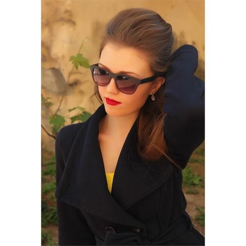Morvizyon Clariss Marka Siyah & Kırmızı Detaylı Mat Tasarımlı Bayan Gözlük