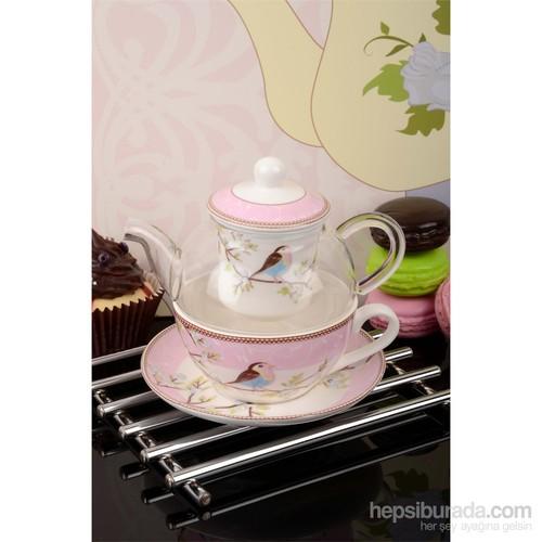 Royal Windsor Özel Tasarım Süzgeçli Ve Cam Demlikli Tea Pot Seti
