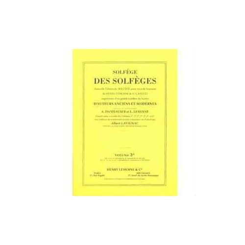 Lavignac Solfej Kitabı 2A