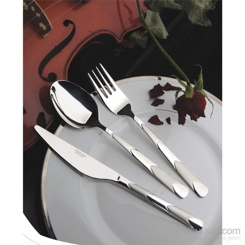 Yetkin Piramit 12 Adet Yemek Bıçağı - Sade