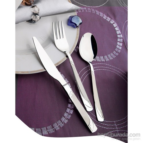 Yetkin Rüya 12 Adet Yemek Bıçağı - Sade