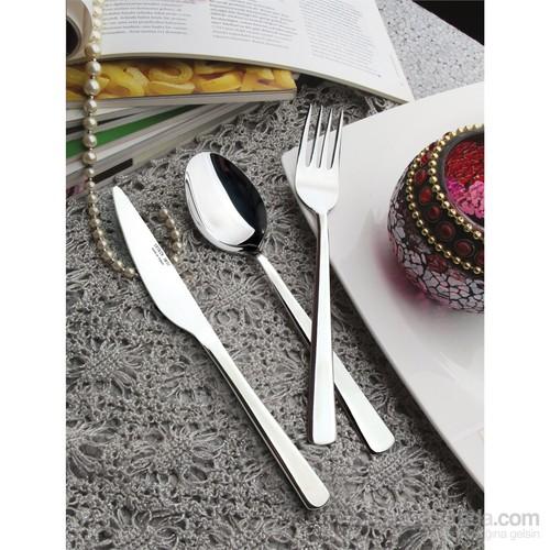 Yetkin Venüs 12 Adet Yemek Bıçağı - Saten