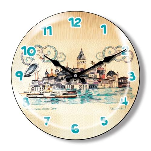 Clocktime By Cadran Dekoratif Bombeli Cam Duvar Saati Ct13
