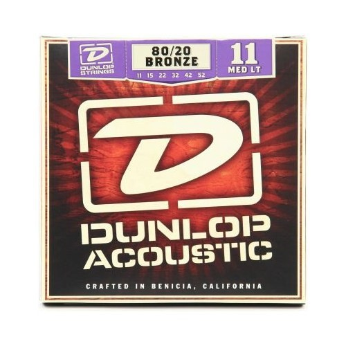 Jim Dunlop Dab 11-52 Medium-Light 80/20 Bronz Akustik Gitar Tel Seti