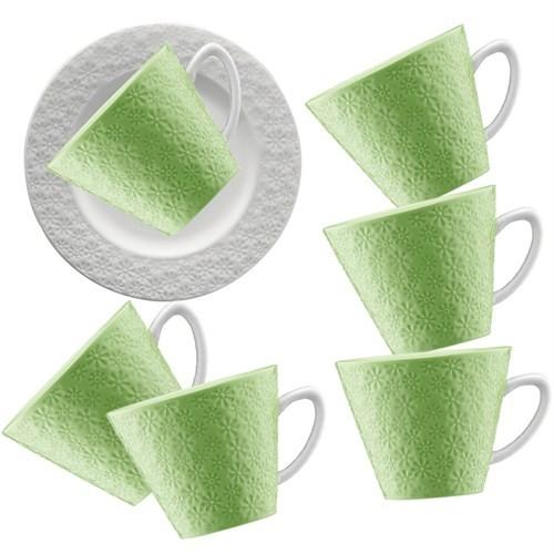 Kütahya Porselen 12 Parça Kahve Takımı Yeşil