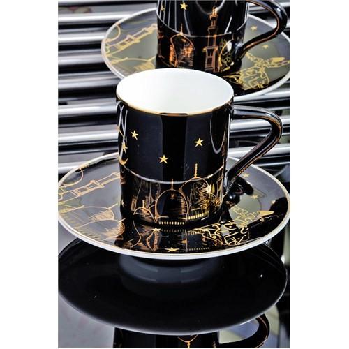 Royal Windsor Mevlana Serisi Altin Yaldizli Lüx 6 Kişilik Kahve Fincan Takımı