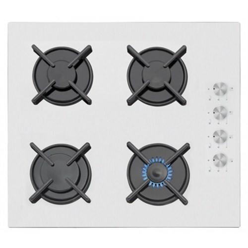 Simfer 3507 Gaz Emniyetli Beyaz Cam Ankastre Ocak