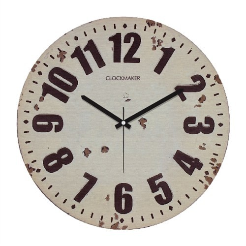 Clockmaker By Cadran Retro Vintage 30X30 Mdf Duvar Saati Cmm89