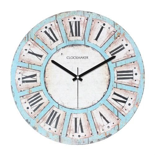 Clockmaker By Cadran Retro Vintage 30X30 Mdf Duvar Saati Cmm94