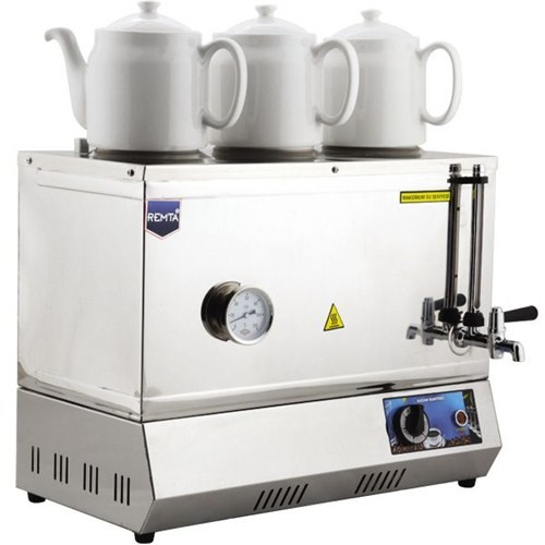 55 Model Üç Demlikli Elektrikli Çay Kazanı 33Lt Çay Otomatı
