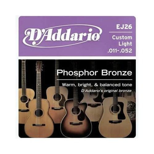 Daddario Ej26 Akustik Gitar Tel Custom Light