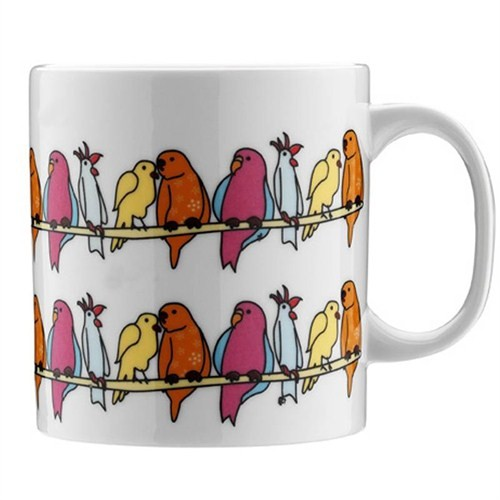 Kütahya Porselen Teldeki Kuş Kupa
