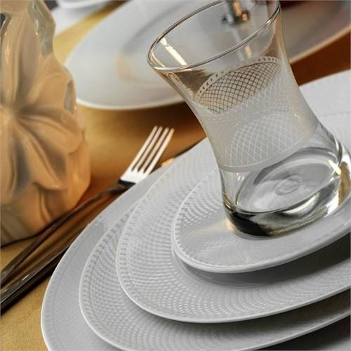 Kütahya Porselen Zümrüt 6 Kişilik Çay Takımı
