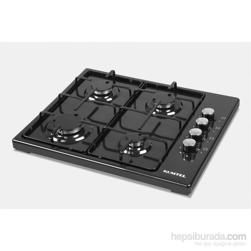 Kumtel KO-420F 4 Gözü Gazlı Siyah Setüstü Ocak-Doğalgaz