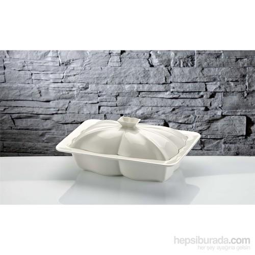 iHouse Rx08 Porselen Fırın Kabı Beyaz