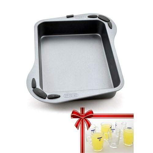 Pyrex Elegance Derin Fırın Kabı-Luminarc 6Lı Cam Kupa Hediyeli