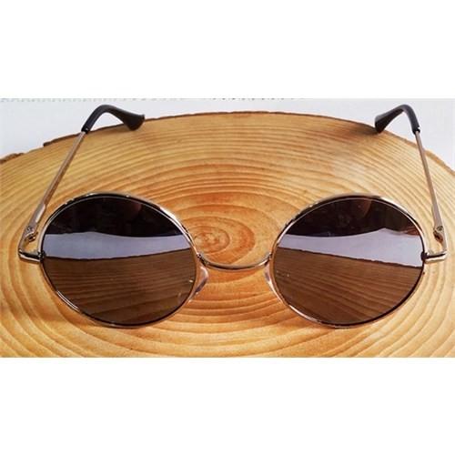 Köstebek Metalik Gümüş Çerçeveli Aynalı John Lennon Gözlük
