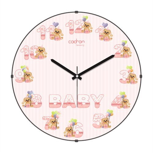 Cadran Luxury Kids Bombeli Cam Duvar Saati Baby-3