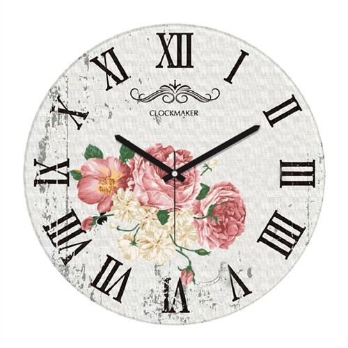 Clockmaker By Cadran Retro Vintage 30X30 Mdf Duvar Saati Cmm135