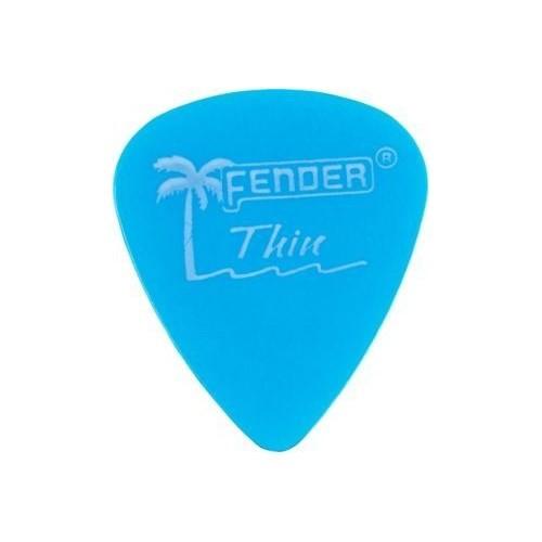 Fender California Clear Picks, 12 Pack, Thin, Lake