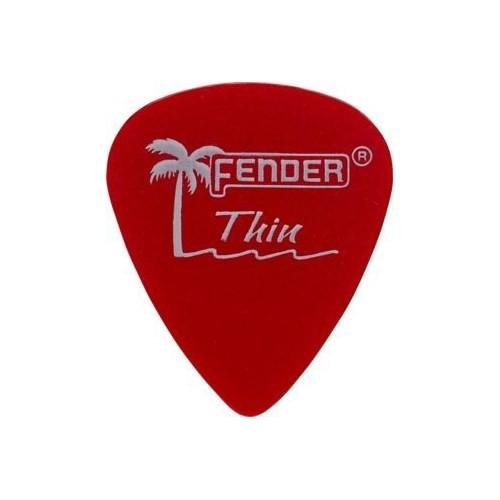 Fender California Clear Picks, 12 Pack, Thin, Cand