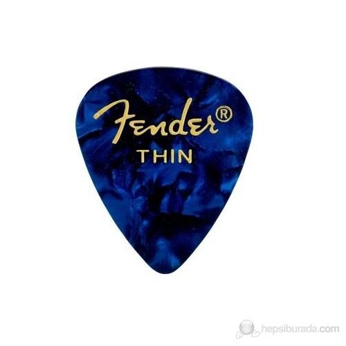 Fender 351 Shape Premium Picks, Thin, 12 Pack, Blu