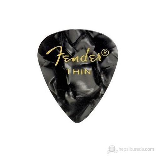 Fender 351 Shape Premium Picks, Thin, 12 Pack, Black