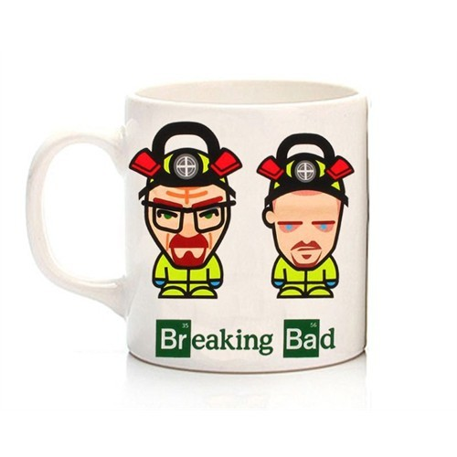 Köstebek Breaking Bad - Walter & Pinkman Karikatür Kupa