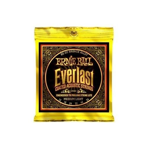 Ernie Ball P02556 Everlast Coated 80/20 Bronze Medium Light 0.12 - 0.54 Aksutik Gitar Teli